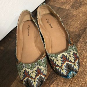Fun fall pattern flats